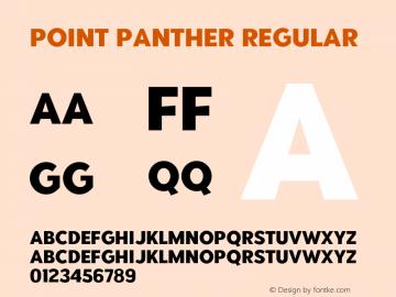 PointPanther-Regular Version 1.000图片样张