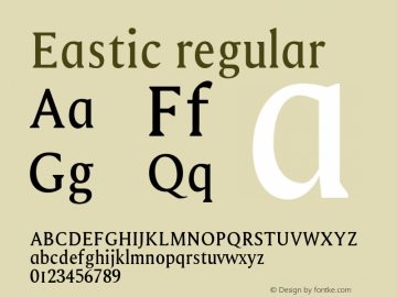 Eastic regular 0.1.0图片样张