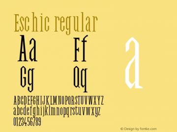 Eschic regular 0.1.0图片样张