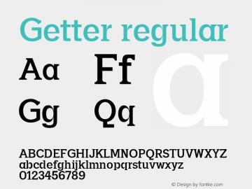 Getter regular 0.1.0图片样张