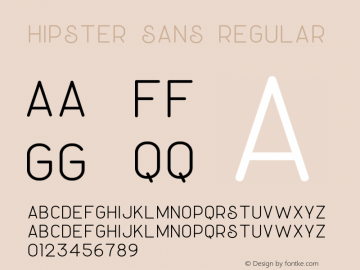 Hipster Sans Version 1.002;Fontself Maker 3.3.0图片样张