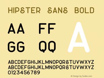 Hipster Sans Bold Version 1.002;Fontself Maker 3.3.0图片样张
