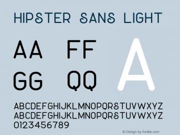 Hipster Sans Light Version 1.002;Fontself Maker 3.3.0图片样张