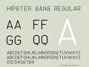 Hipster Sans Version 1.002;Fontself Maker 3.3.0图片样张