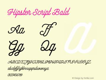 Hipster Script Bold Version 1.002;Fontself Maker 3.3.0图片样张