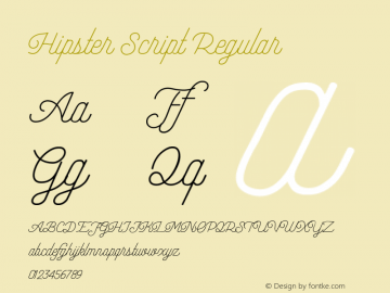 Hipster Script Version 1.002;Fontself Maker 3.3.0图片样张
