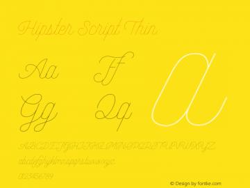 Hipster Script Thin Version 1.002;Fontself Maker 3.3.0图片样张