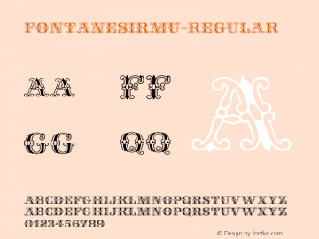 ☞FontanesiRMU-Regular Version 1.1;com.myfonts.easy.rmu.Fontanesi-RMU.Regular.wfkit2.version.52BF图片样张