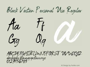 Black Vosten Personal Use Version 1.00;August 21, 2019;FontCreator 11.5.0.2427 32-bit图片样张