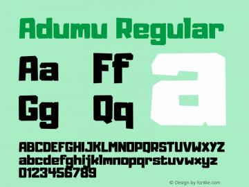 Adumu Version 4.000图片样张