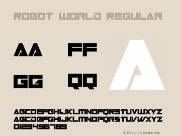 Robot World Version 1.00;October 7, 2019;FontCreator 12.0.0.2547 64-bit图片样张