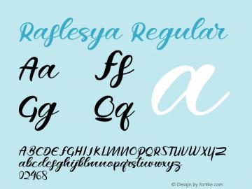Raflesya Version 1.00;October 7, 2019;FontCreator 11.5.0.2422 64-bit图片样张