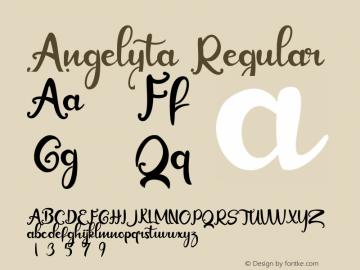 Angelyta Version 1.00;October 7, 2019;FontCreator 11.5.0.2422 64-bit图片样张