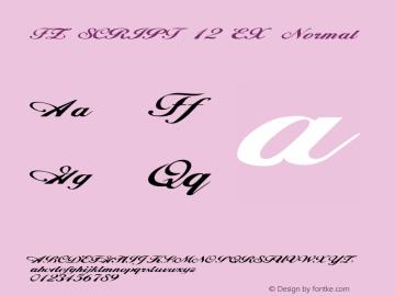 FZ SCRIPT 12 EX Normal 1.0 Thu Jan 27 19:57:54 1994图片样张