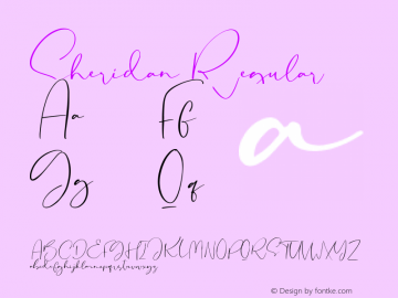 Sheridan Version 1.00;October 15, 2019;FontCreator 11.5.0.2430 32-bit图片样张
