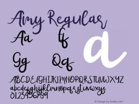 Amy Version 1.00;September 6, 2019;FontCreator 11.5.0.2430 64-bit图片样张