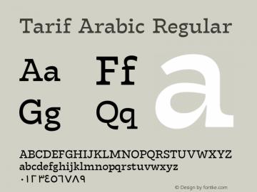 Tarif Arabic Regular Version 1.000图片样张
