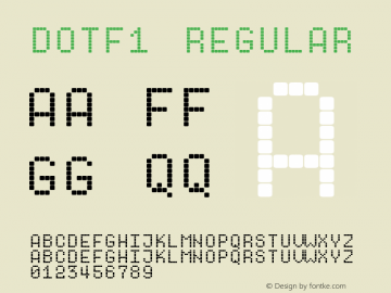 Dotf1 Version 1.0; 2000; initial release图片样张