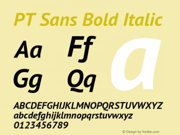 PT Sans Bold Italic Version 2.003W OFL图片样张