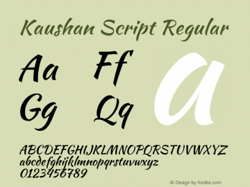 Kaushan Script Version 1.002图片样张
