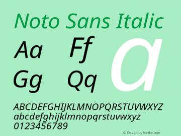 Noto Sans Italic Version 1.04图片样张