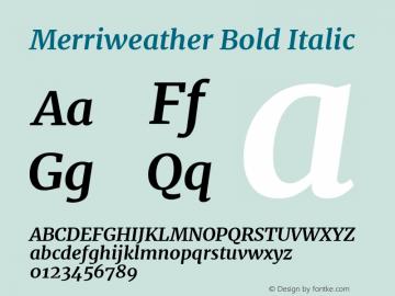 Merriweather Bold Italic Version 2.002图片样张
