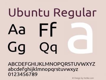 Ubuntu Version 0.70 Font Sample