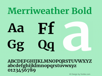 Merriweather Bold Version 2.002图片样张