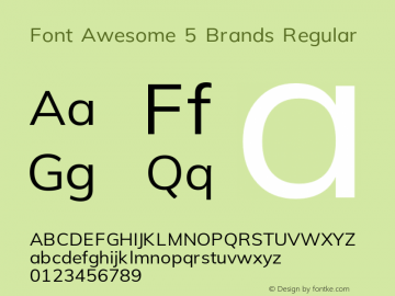 Font Awesome 5 Brands Regular 5.0 (build: 1525206853)图片样张
