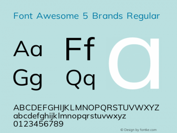 Font Awesome 5 Brands Regular 5.0 (build: 1525962441)图片样张