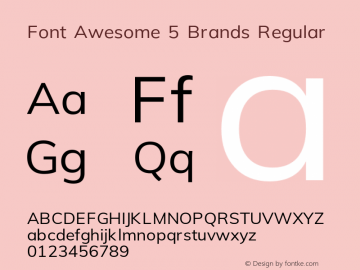 Font Awesome 5 Brands Regular 5.1 (build: 1531848063)图片样张