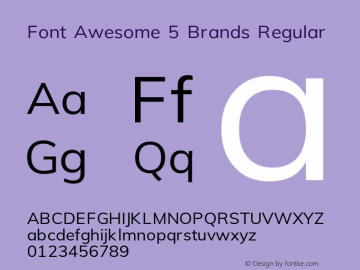 Font Awesome 5 Brands Regular 5.3 (build: 1535477053)图片样张