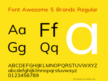Font Awesome 5 Brands Regular 5.4 (build: 1539026605)图片样张