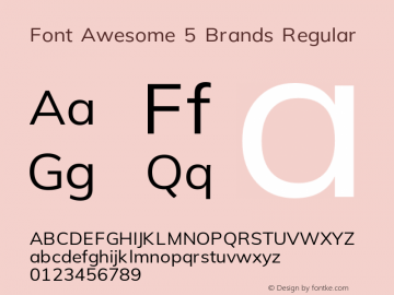 Font Awesome 5 Brands Regular 5.1 (build: 1529523972)图片样张
