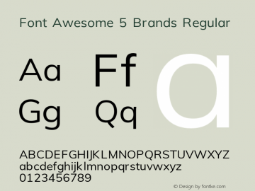 Font Awesome 5 Brands Regular Version 5.0图片样张