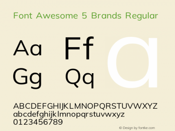 Font Awesome 5 Brands Regular 5.4 (build: 1539287121)图片样张