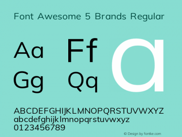 Font Awesome 5 Brands Regular 5.5 (build: 1541170013)图片样张
