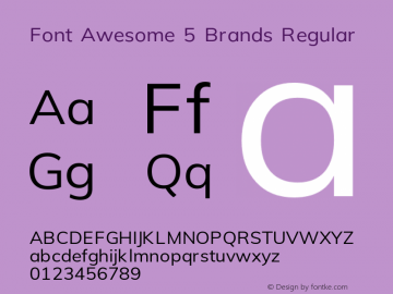 Font Awesome 5 Brands Regular 5.6 (build: 1544217373)图片样张