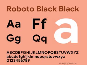 Roboto Black Version 1.008 | CWR FONToMASS Premium compilation图片样张