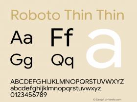 Roboto Thin Version 1.008 | CWR FONToMASS Premium compilation图片样张