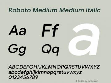 Roboto Medium Italic Version 1.008 | CWR FONToMASS Premium compilation图片样张