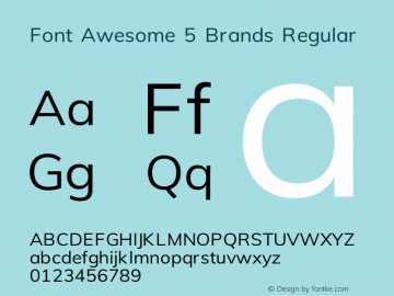 Font Awesome 5 Brands Regular 329.472 (Font Awesome version: 5.7.0)图片样张