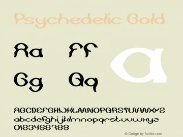 Psychedelic Bold Version 1.00;May 13, 2019;FontCreator 11.5.0.2430 64-bit图片样张