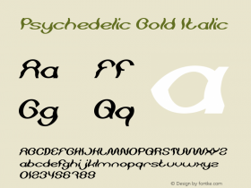 Psychedelic Bold Italic Version 1.00;May 13, 2019;FontCreator 11.5.0.2430 64-bit图片样张