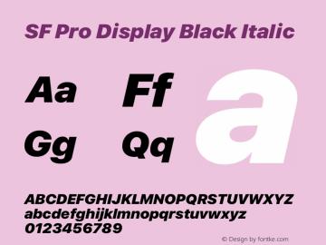 SF Pro Display Black Italic Version 15.0d5e5图片样张