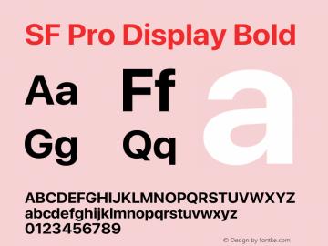 SF Pro Display Bold Version 15.0d5e5图片样张