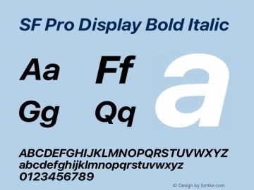 SF Pro Display Bold Italic Version 15.0d5e5图片样张