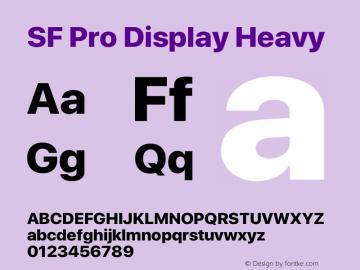 SF Pro Display Heavy Version 15.0d5e5图片样张