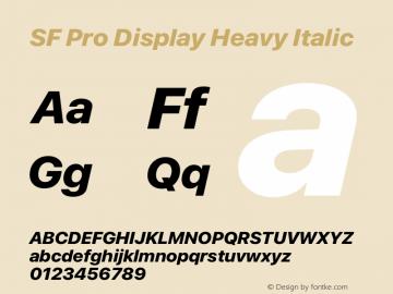 SF Pro Display Heavy Italic Version 15.0d5e5图片样张