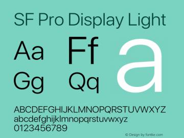 SF Pro Display Light Version 15.0d5e5图片样张